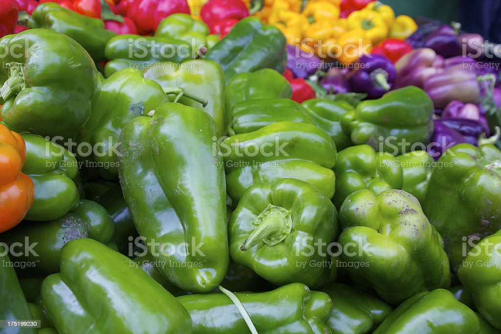 colorfull bell peppers stock photo