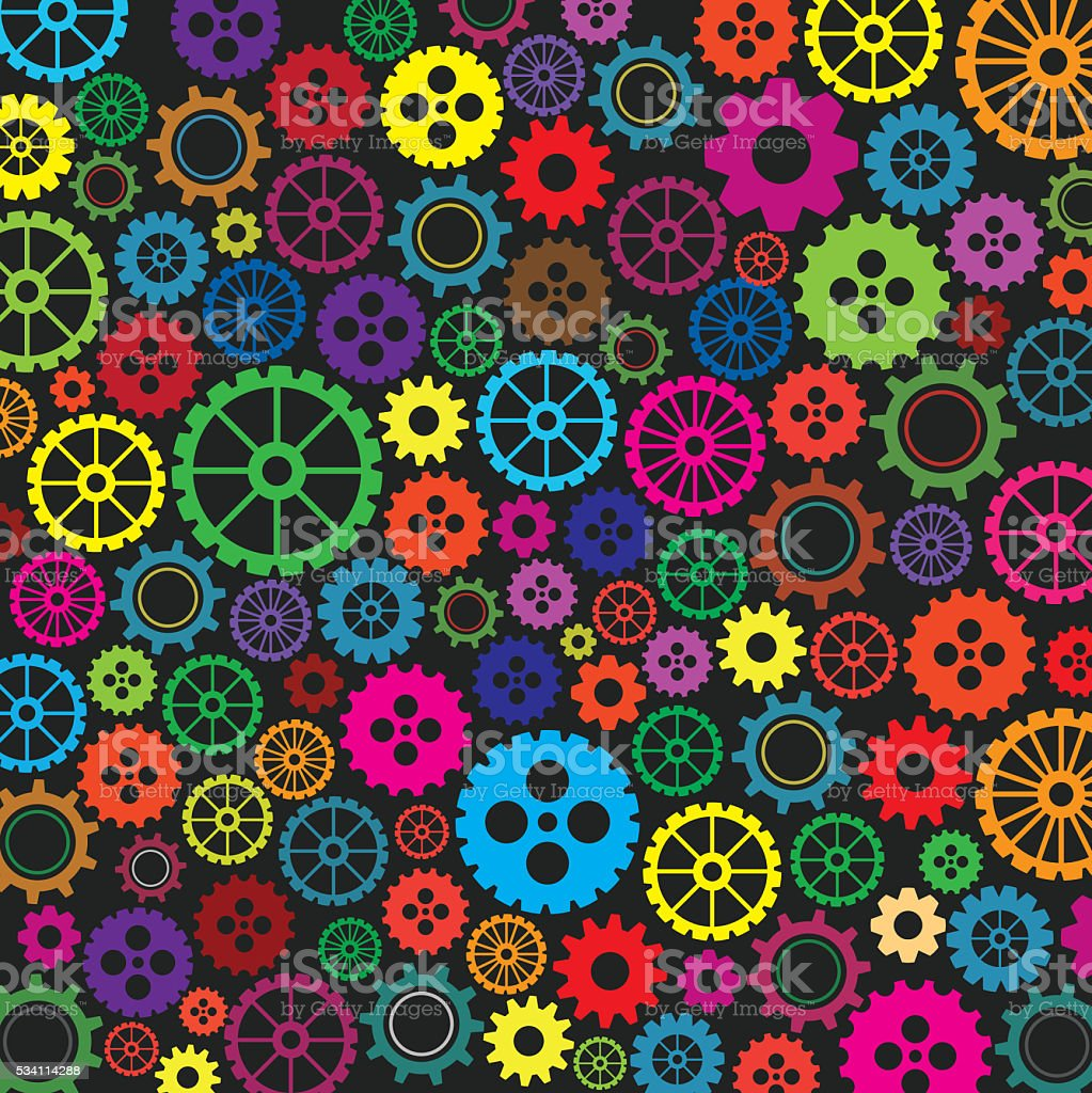 Colorfull gears background stock photo