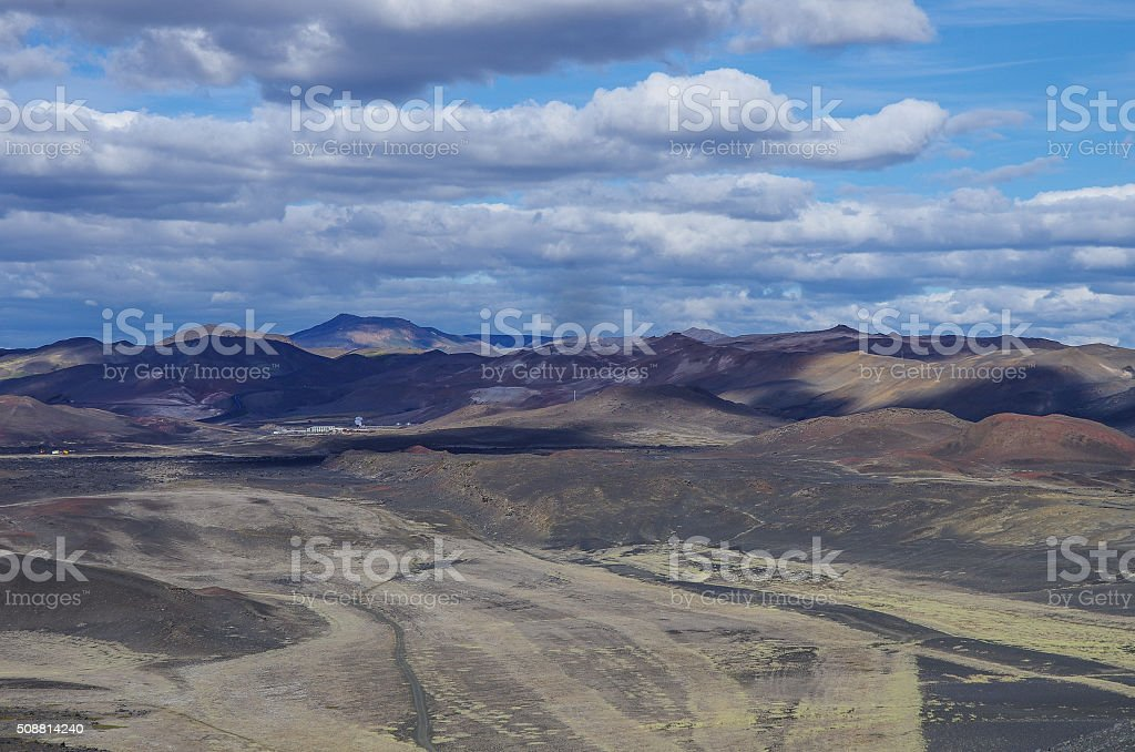 Colorfull hills. Landscape of geothermal field near Mvatmn Lake, stock photo