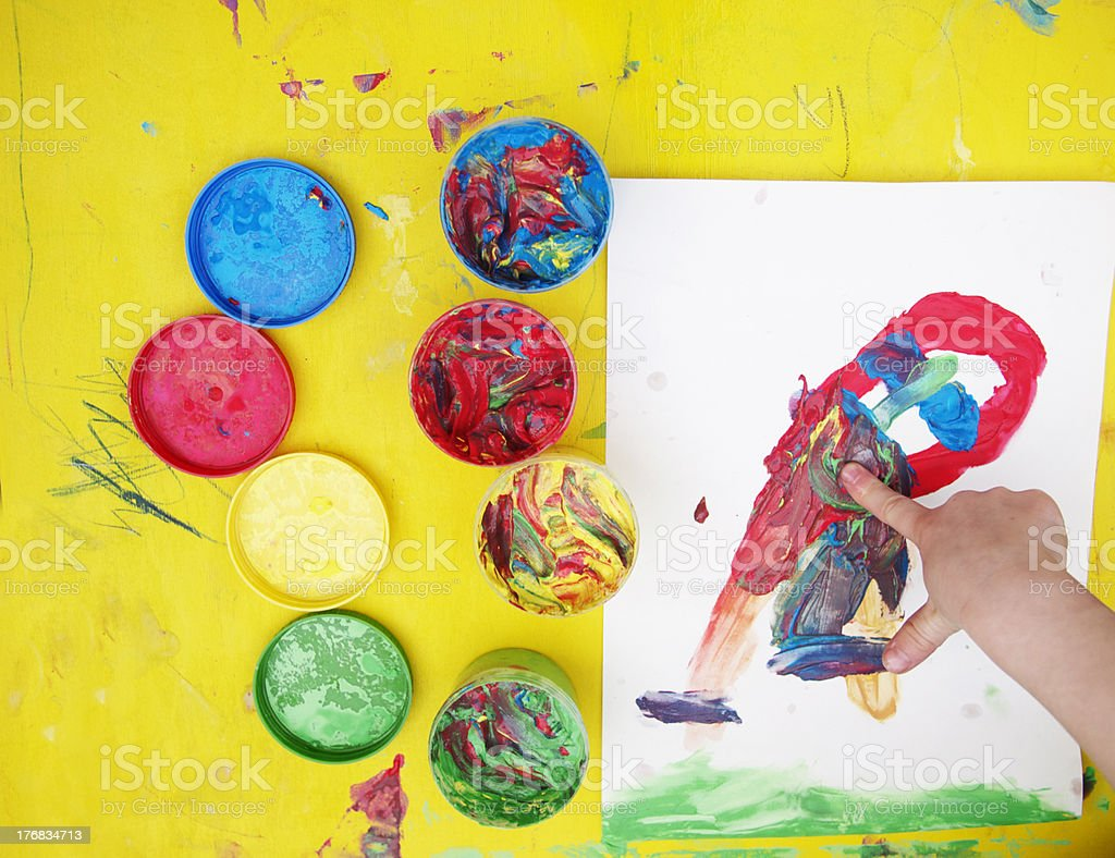 colorfull kid´s painting royalty-free stock photo