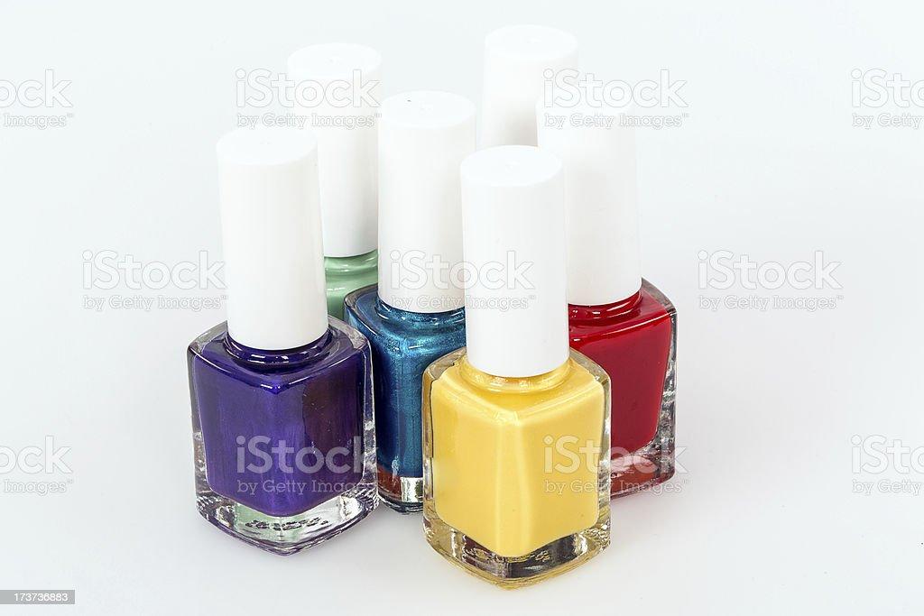 Colorfull Nail polish  . royalty-free stock photo