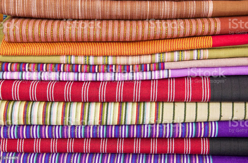 colorfull of  thai style native clothing royalty-free stock photo
