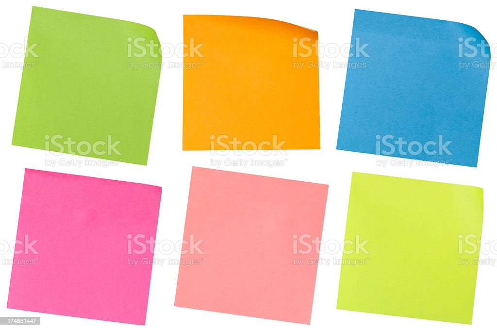 Colorfull reminders stock photo
