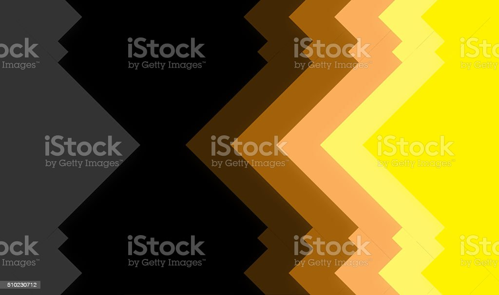 colorfull shapes showing abstact mirror effect stock photo