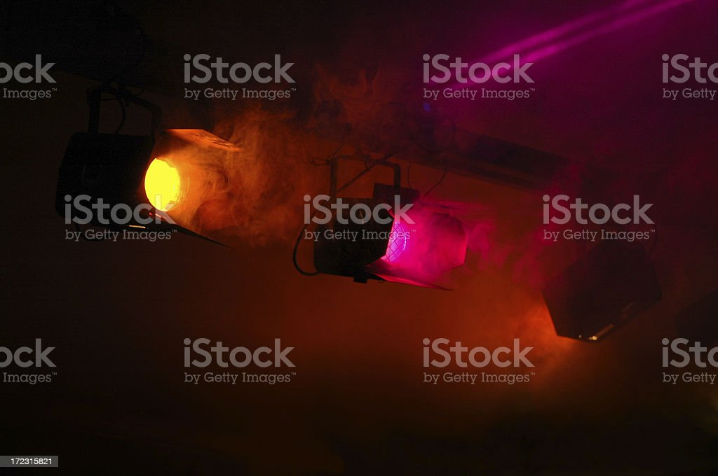 Colorfull staging lights royalty-free stock photo