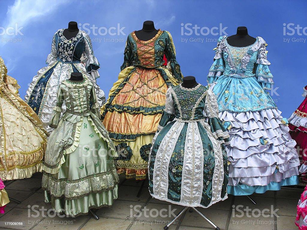 Colorfull estilizadas mulher Fantasia de medieval foto de stock royalty-free