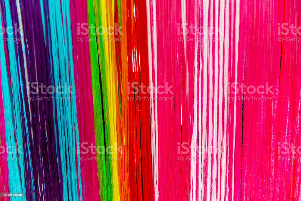 colorfull textile threads stock photo