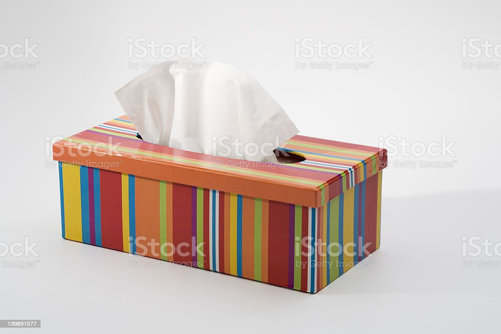 Colorfull tissue box royalty-free stock photo