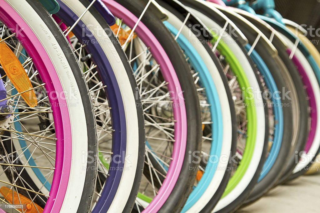 Colorfull wheels stock photo