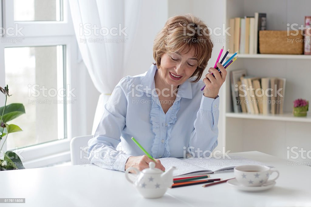 Coloring book stock photo