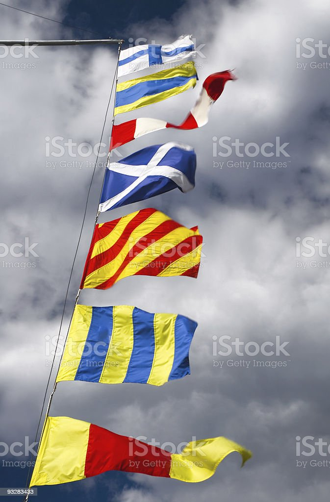 Coloring flags stock photo