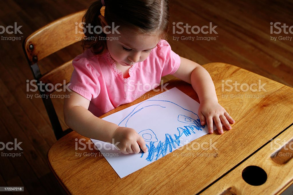 Coloring in School royalty-free stock photo