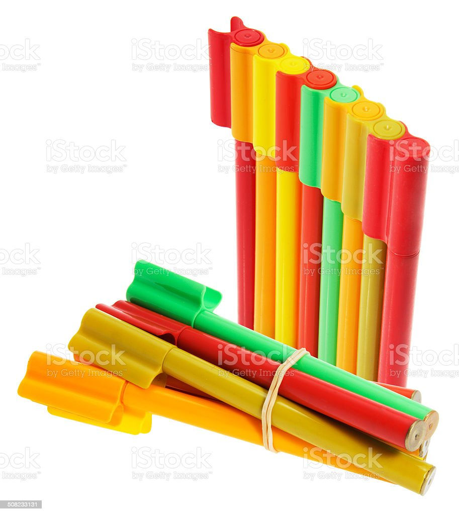Coloring Pens stock photo