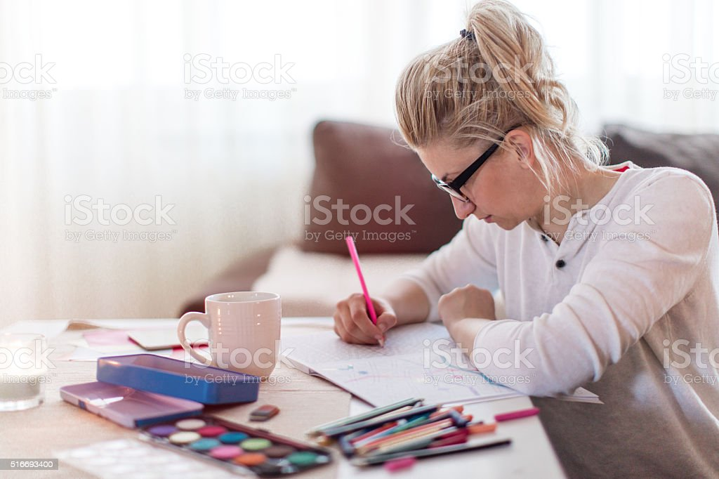 Coloring time stock photo