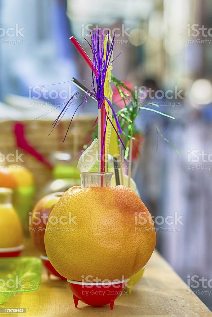 Colormixed in a fruit drink royalty-free stock photo