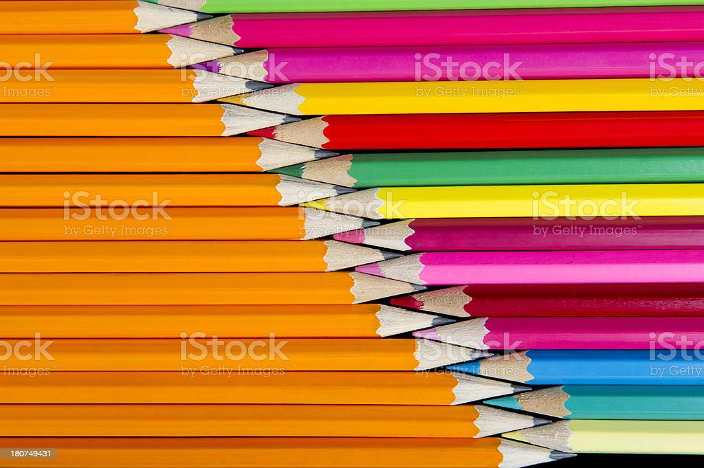Colorpencils and Pencils royalty-free stock photo