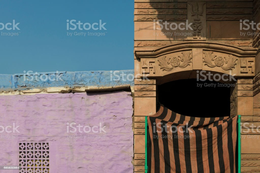 Colors and symbols in India stock photo