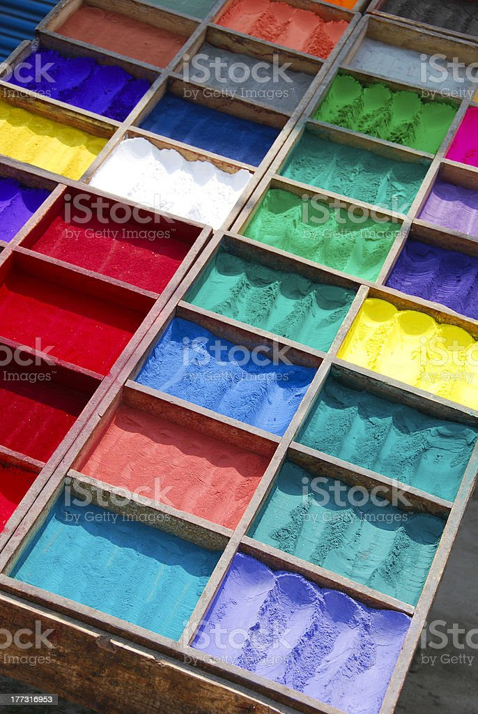 Colors in a Row royalty-free stock photo