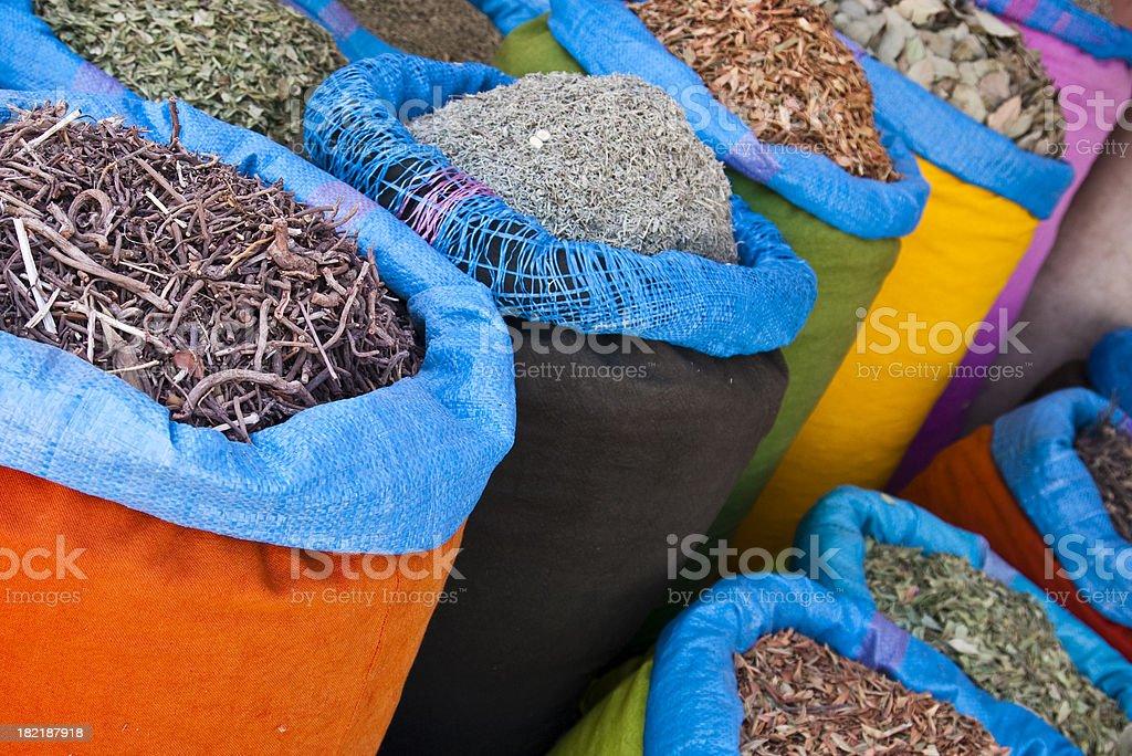 Colors in the Bazaar stock photo