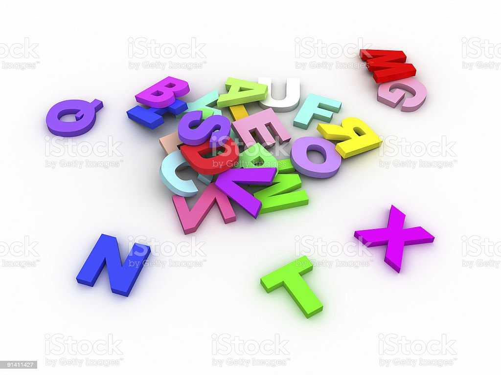 Colors letters royalty-free stock photo