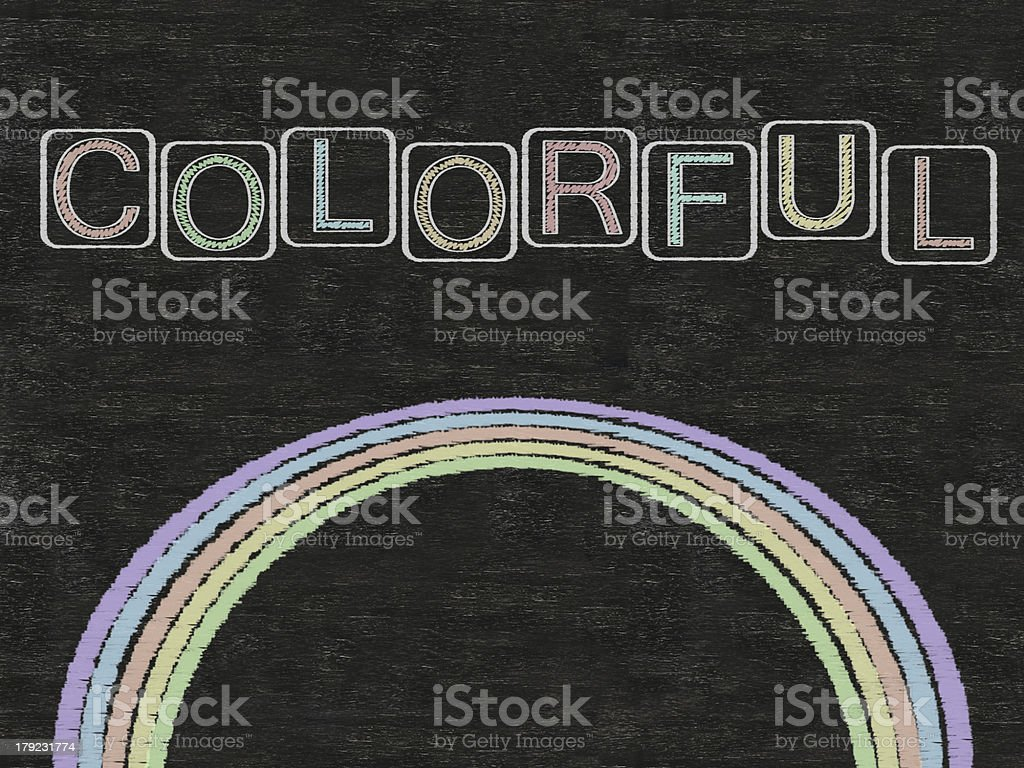 colors line written on blackboard background, high resolution royalty-free stock photo