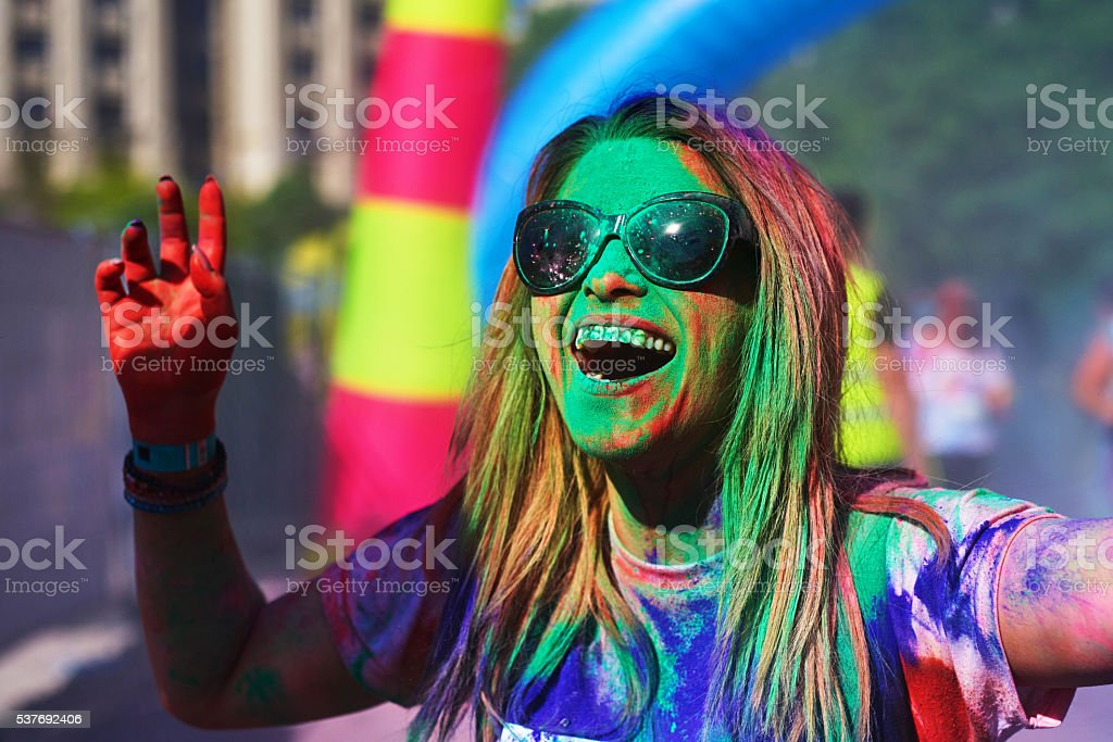 colors makes me smile stock photo