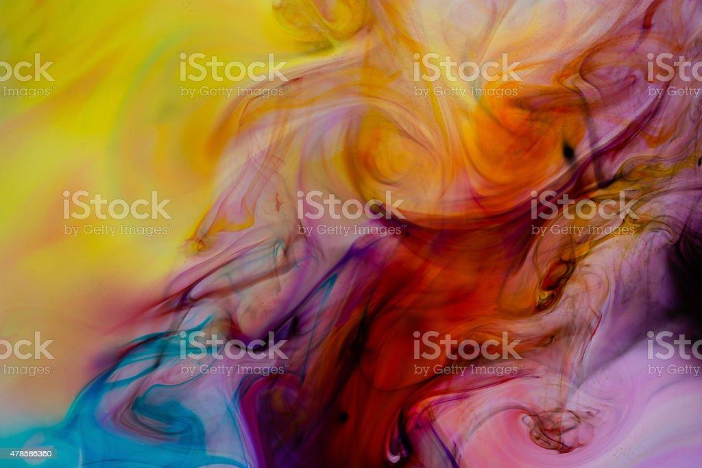 Colors mixture close up stock photo