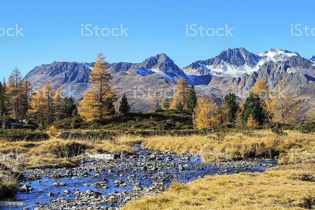 Colors of autumn in the mountains. royalty-free stock photo