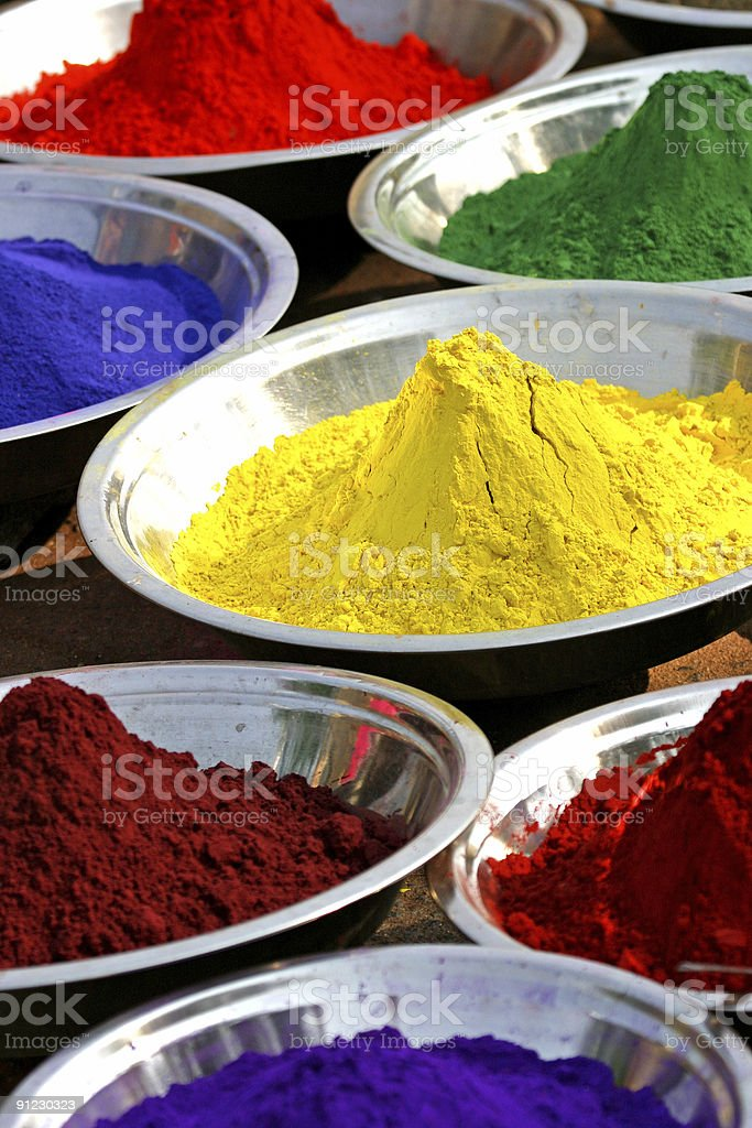 colors of india stock photo