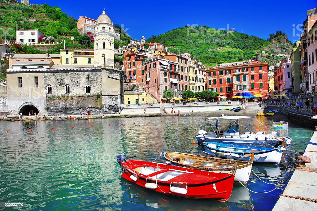 colors of Italy series - Vernazza, Cinque terre stock photo