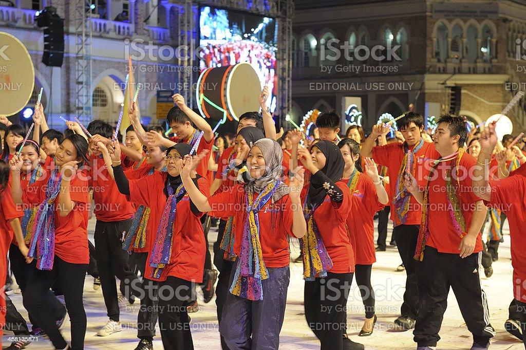 Colors of Malaysia in Kuala Lumpur royalty-free stock photo