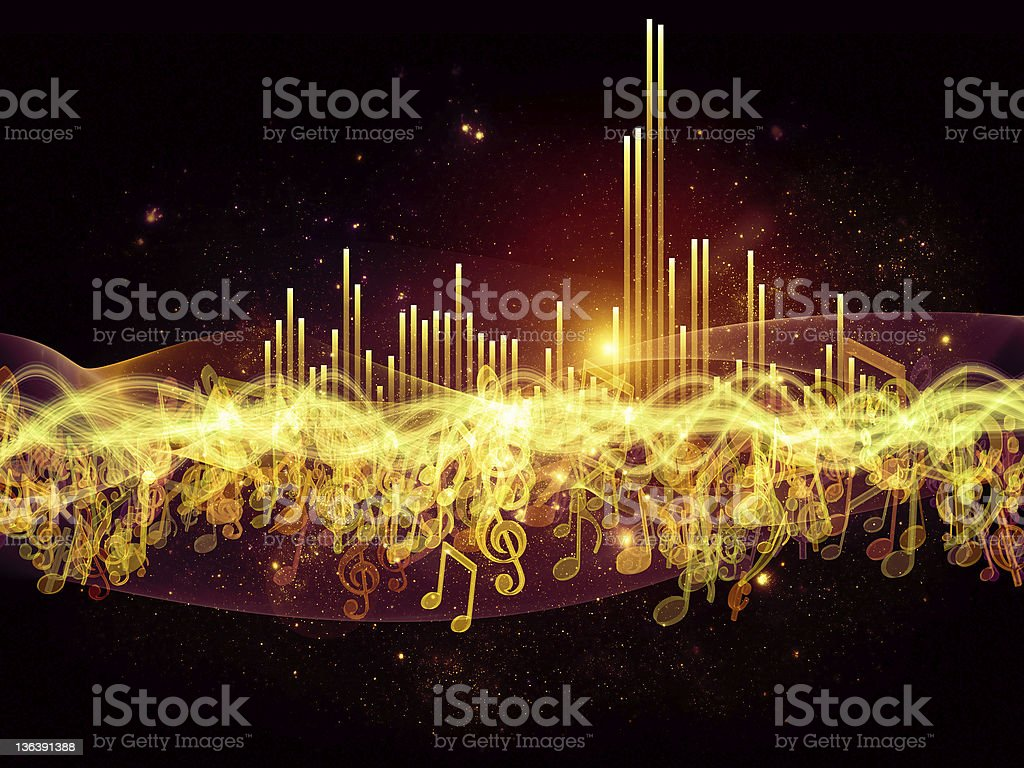 Colors of Musical Energy royalty-free stock photo