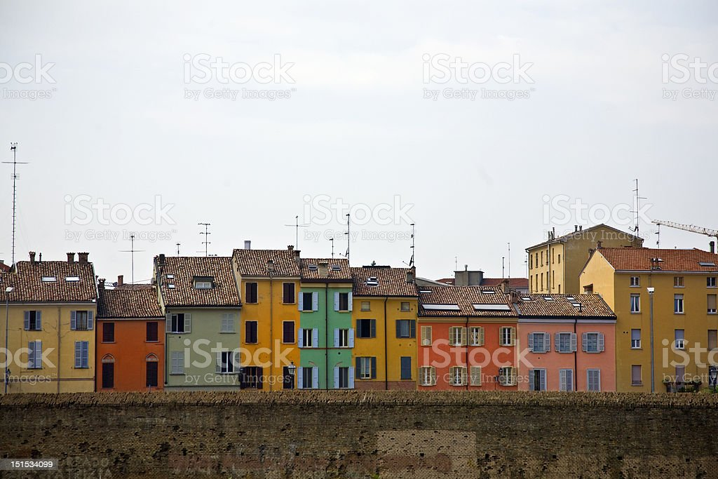 colors of Parma royalty-free stock photo