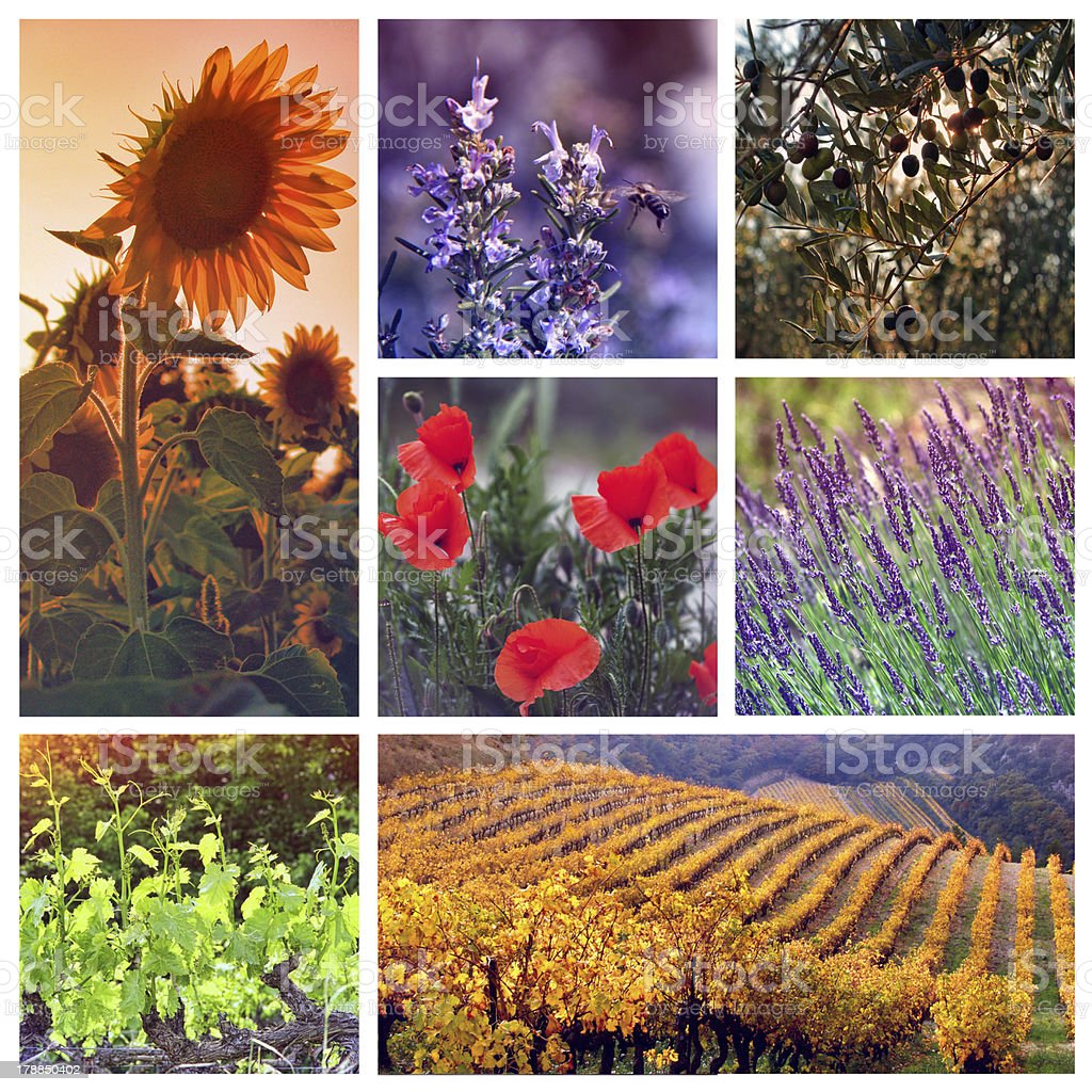 Colors of Provence, France royalty-free stock photo