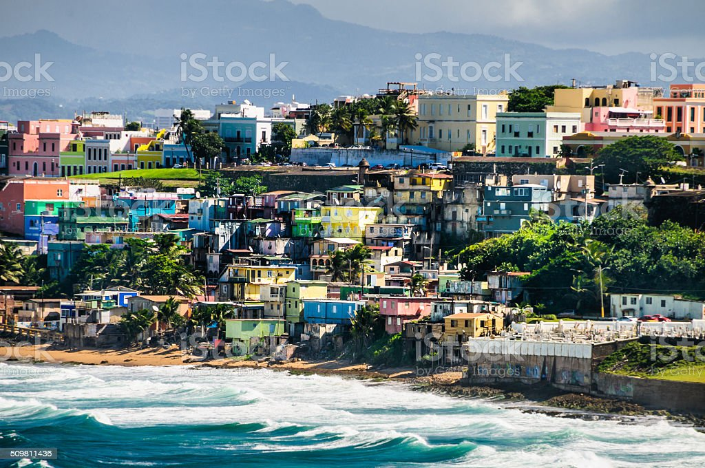 Colors of San Juan stock photo