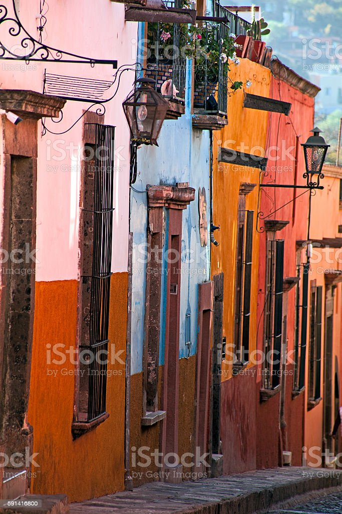 Colors of San Miguel stock photo