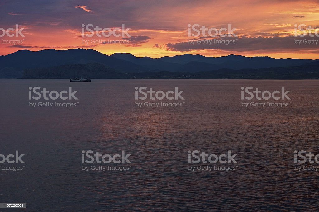 Colors of sunset royalty-free stock photo