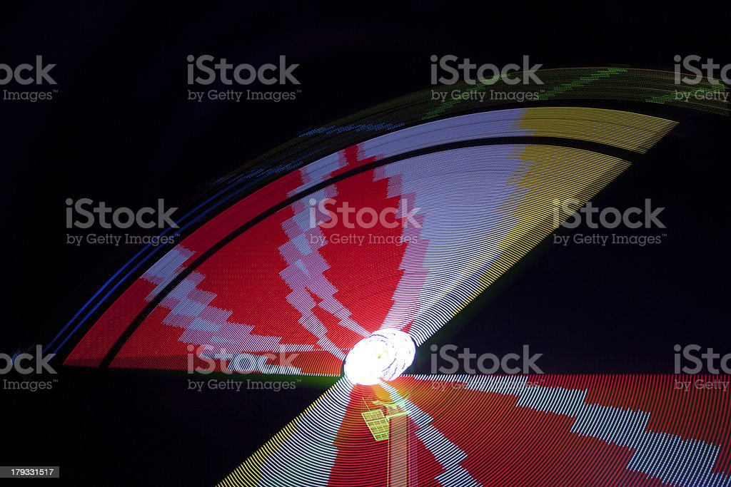 Colors of the funfair by night royalty-free stock photo