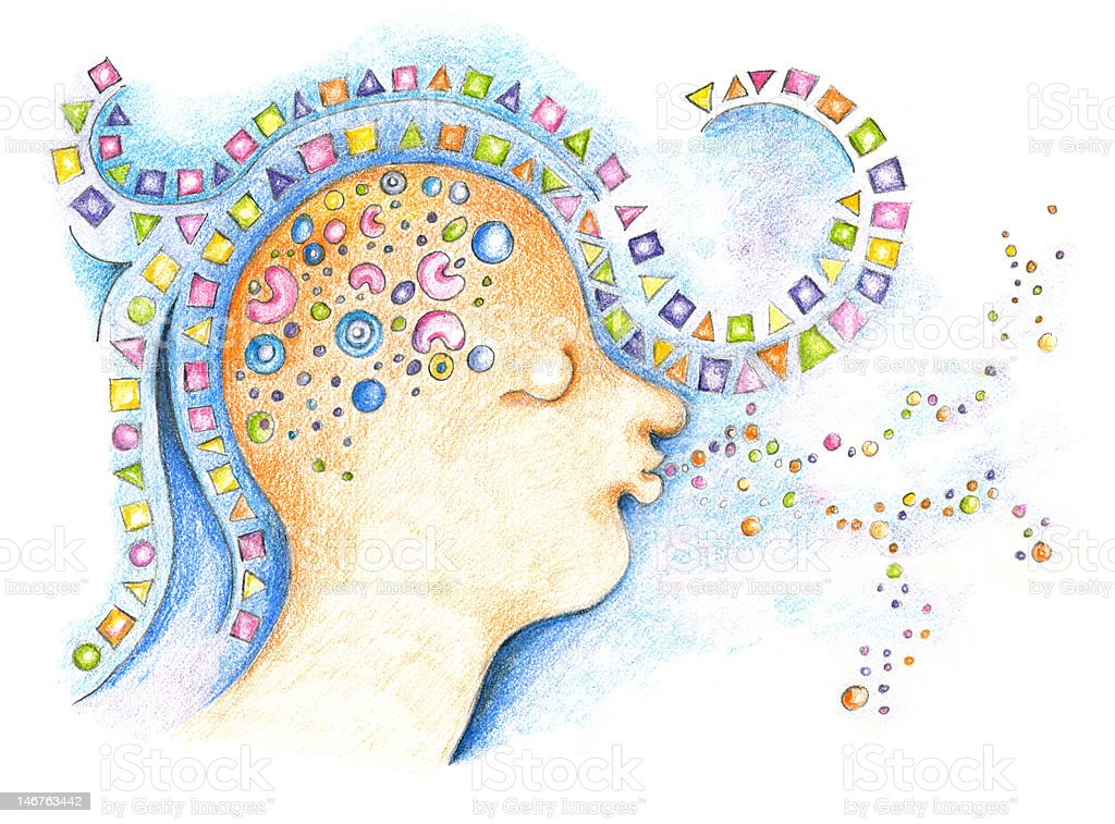 Colors of the human mind royalty-free stock photo