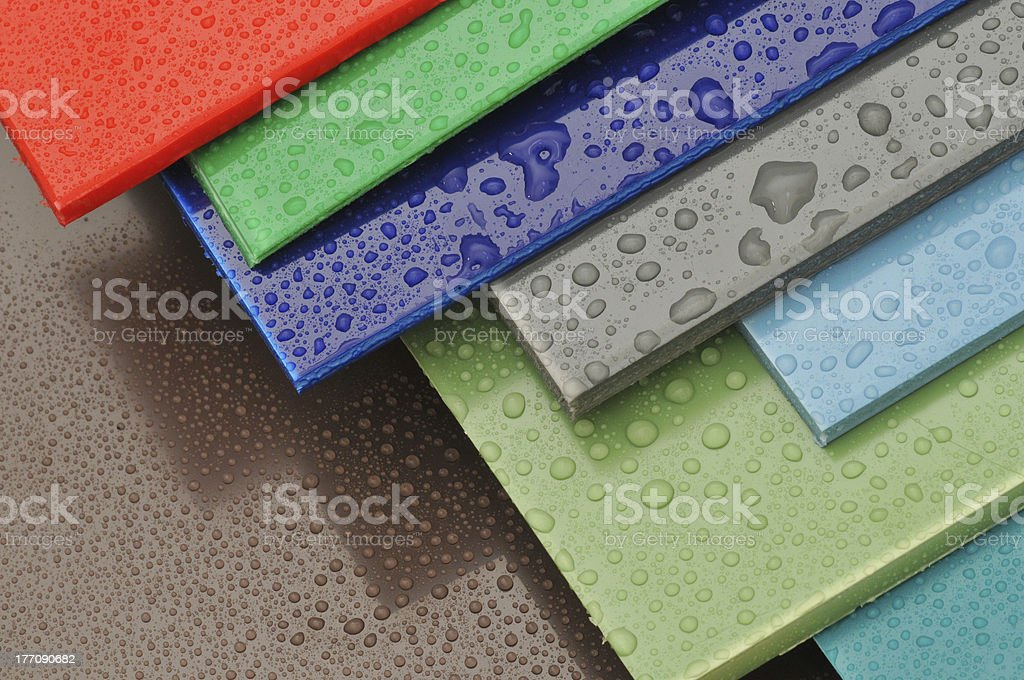 Colors of the plastic III. stock photo