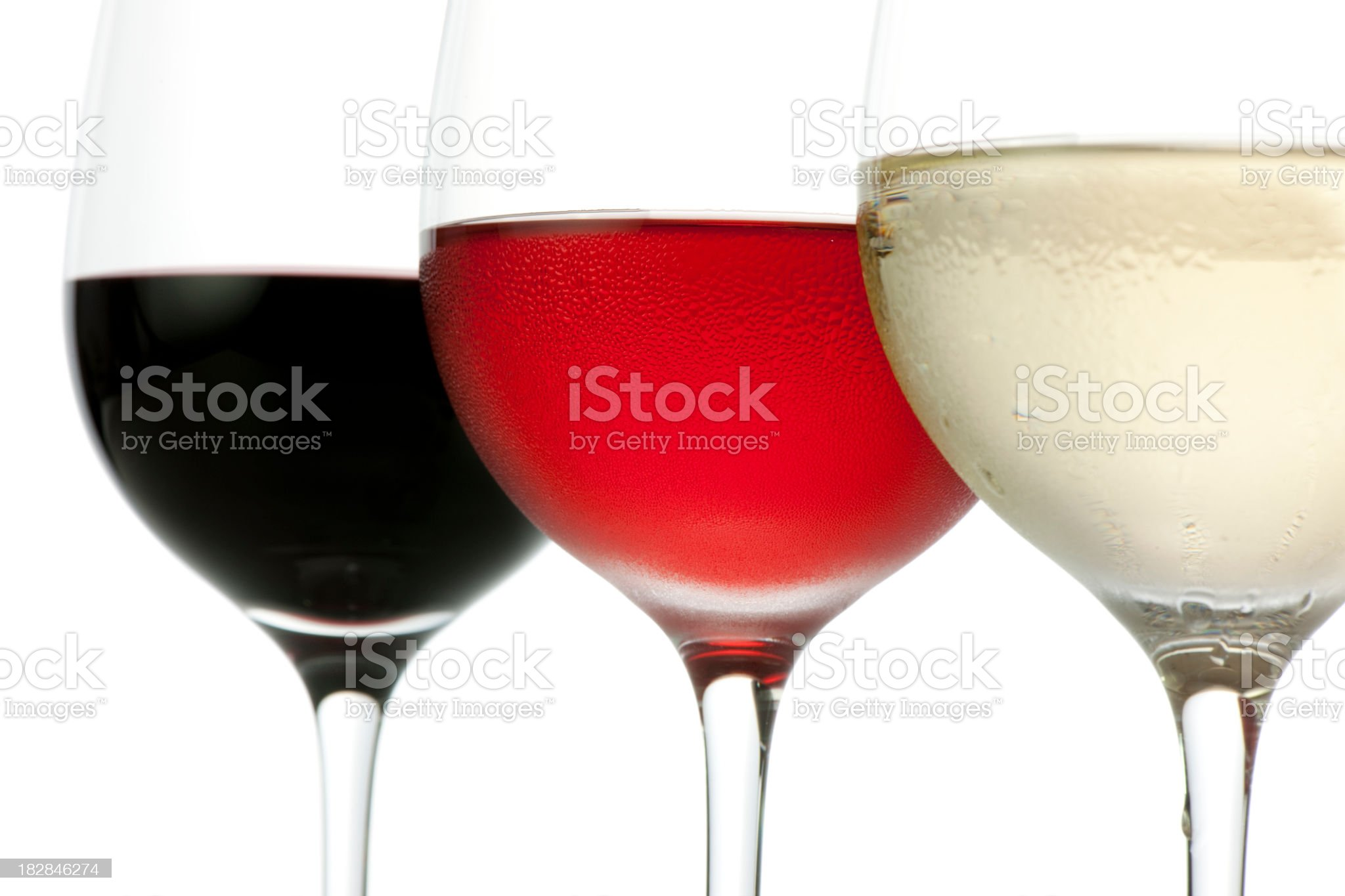 Colors of wine (glasses misted up) royalty-free stock photo