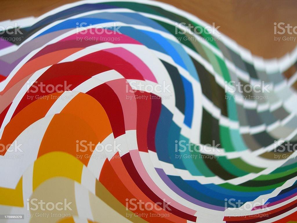 Colors Waving royalty-free stock photo