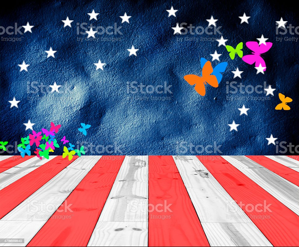 USA Colors with butterfly shape for background royalty-free stock photo