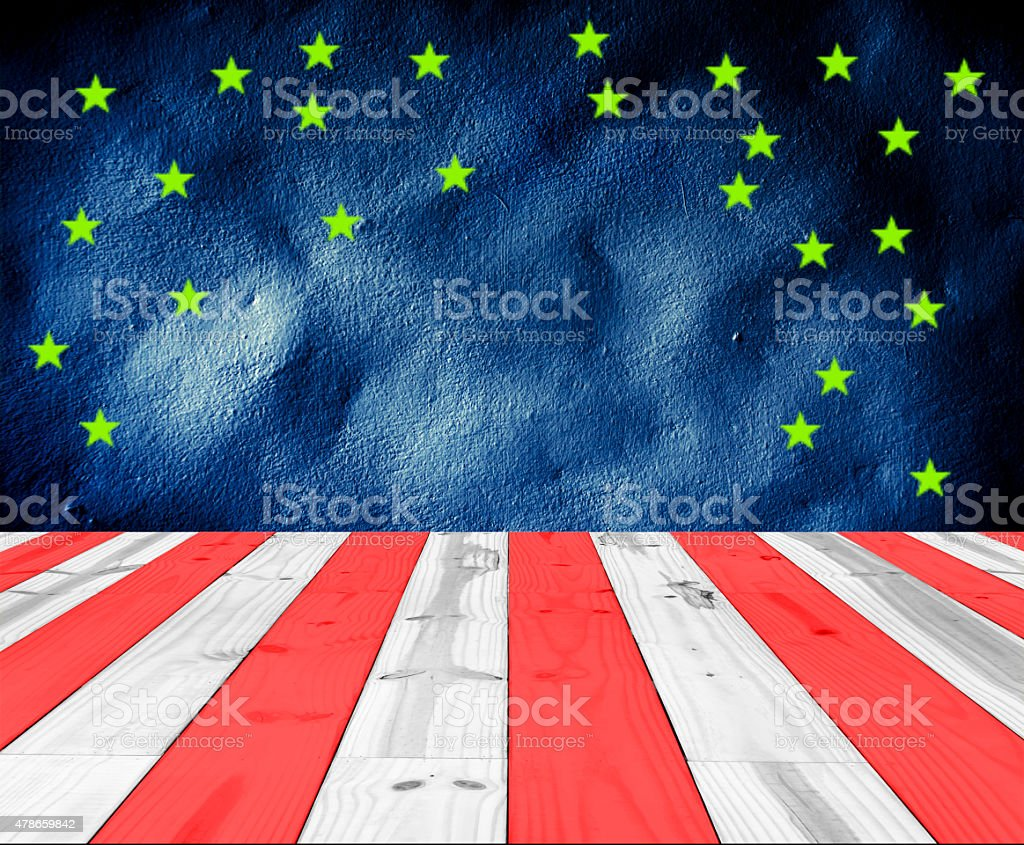 USA Colors with green star for background royalty-free stock photo