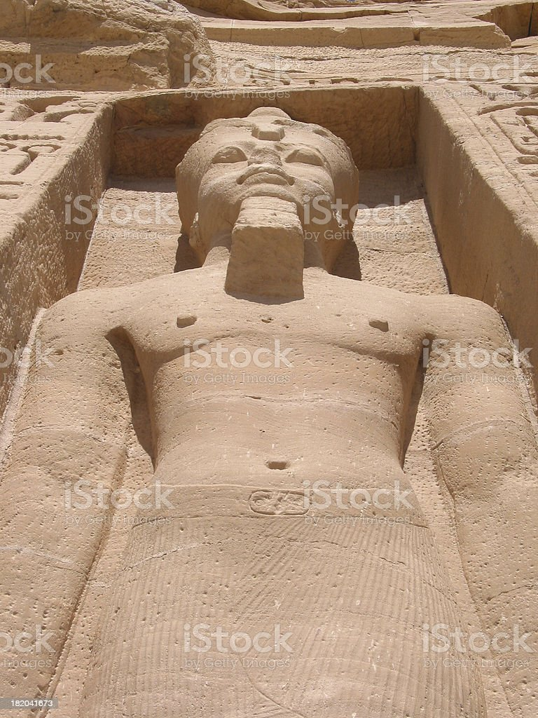 Colossal Statue, Abu Simbel Egypt royalty-free stock photo