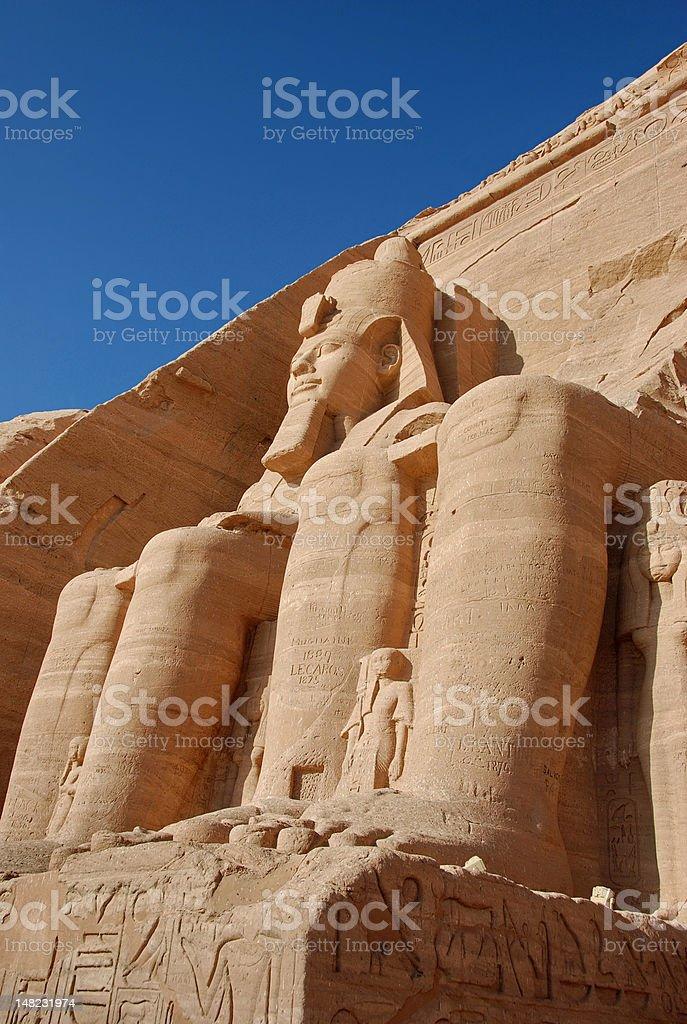 Colossal statues of Rameses II, Abu Simbel, Egypt royalty-free stock photo