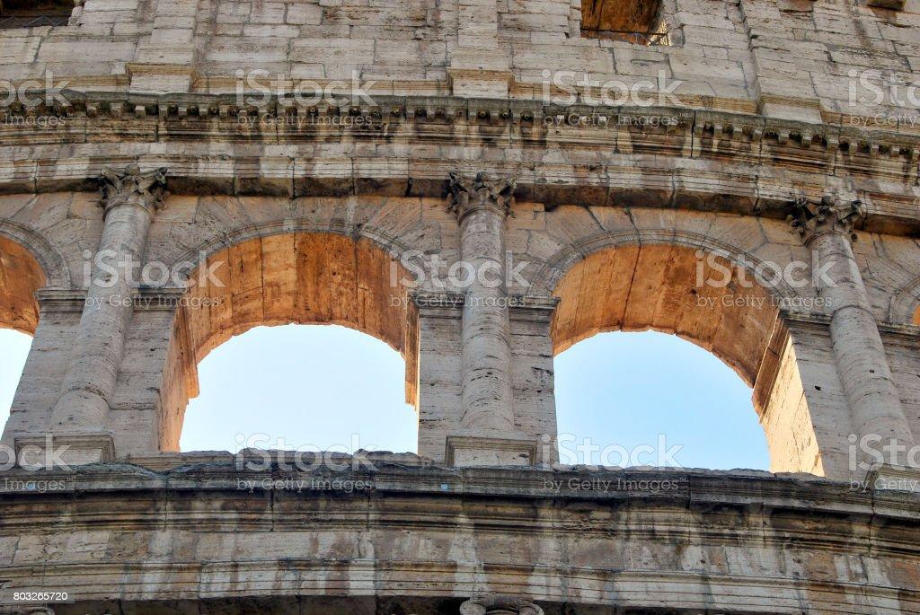 Colosseum arches stock photo