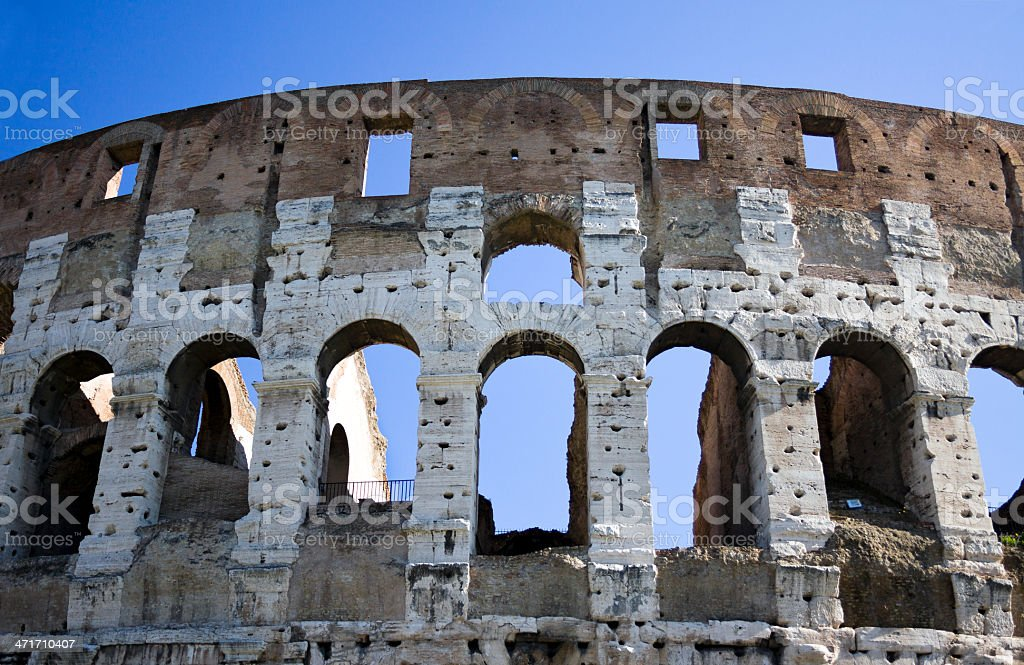 Colosseum arches, Rome, Italy royalty-free stock photo