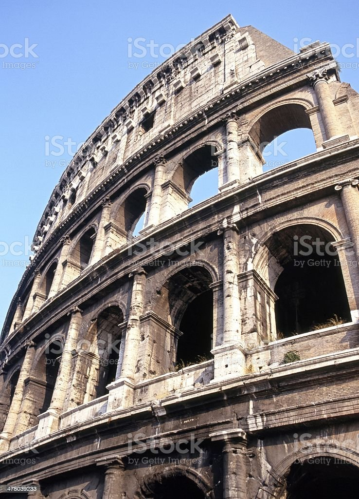 Colosseum arches, Rome, Italy. royalty-free stock photo