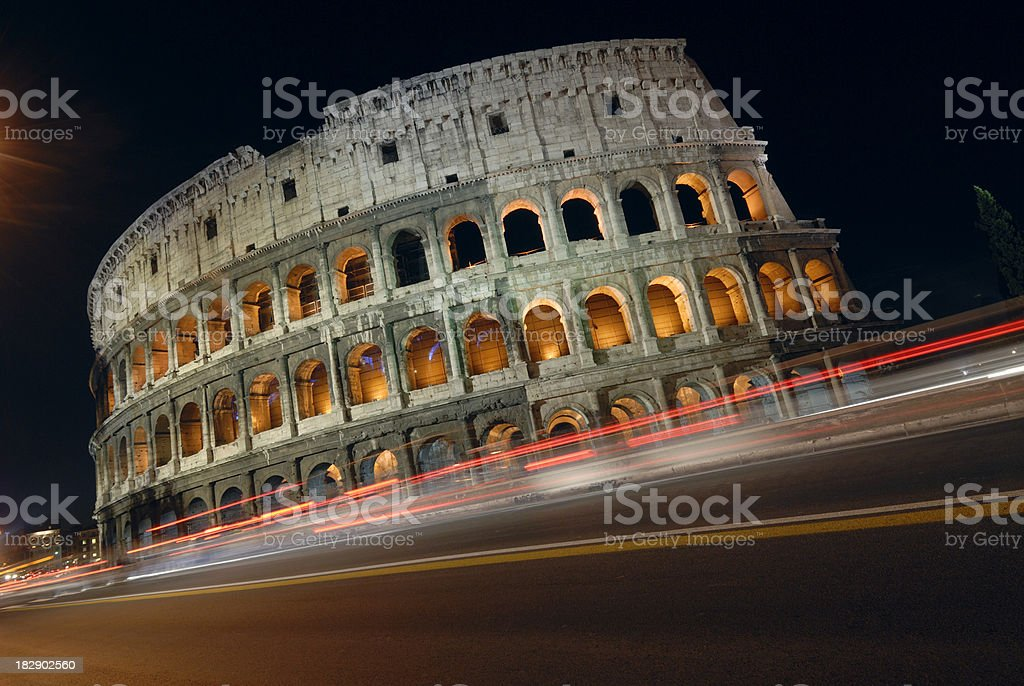 Colosseum at night Rome Italy royalty-free stock photo